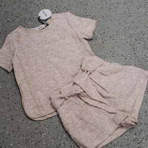 Line and Dot 2pc. Top and Shorts